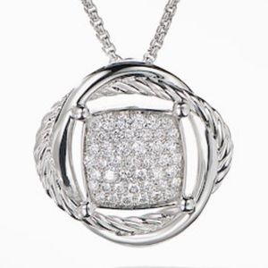 EUC David Yurman Crossover InfinityPendant Diamond